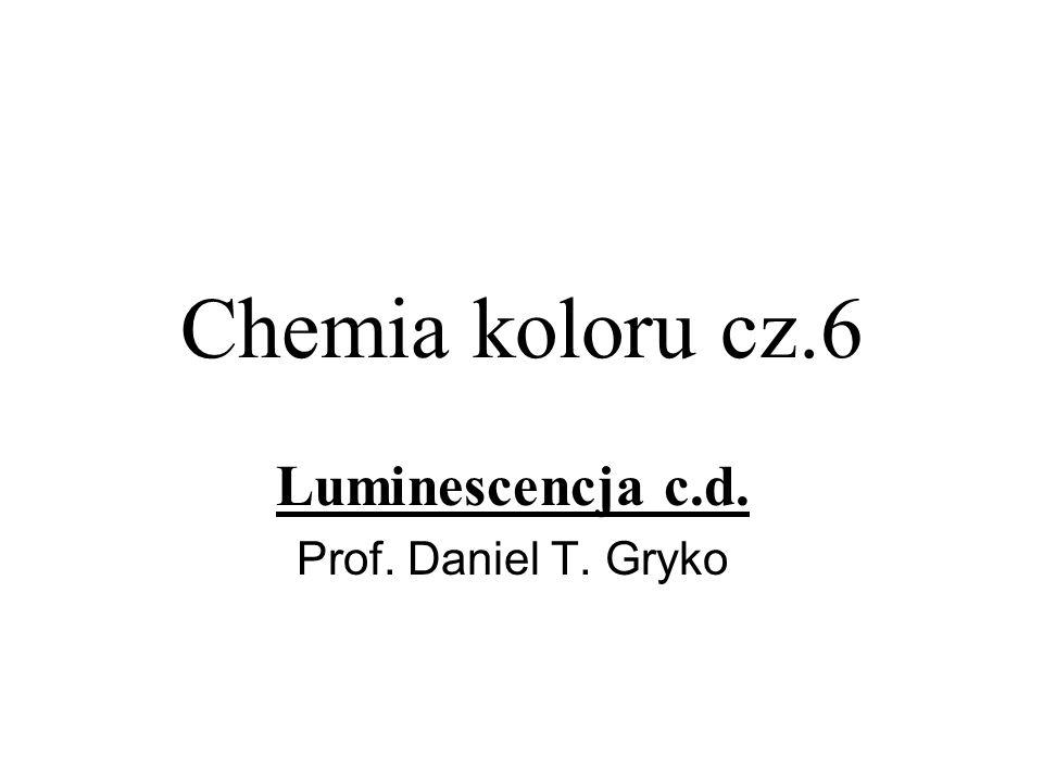 Chemia koloru cz.6 Luminescencja c.d. Prof. Daniel T. Gryko