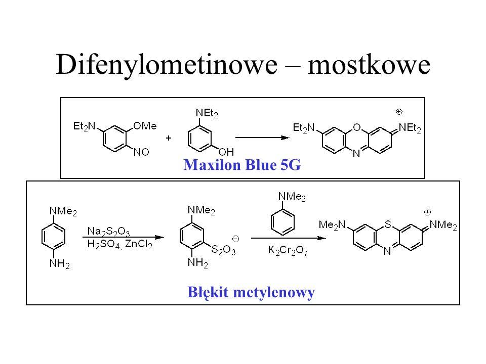 Difenylometinowe – mostkowe Maxilon Blue 5G Błękit metylenowy