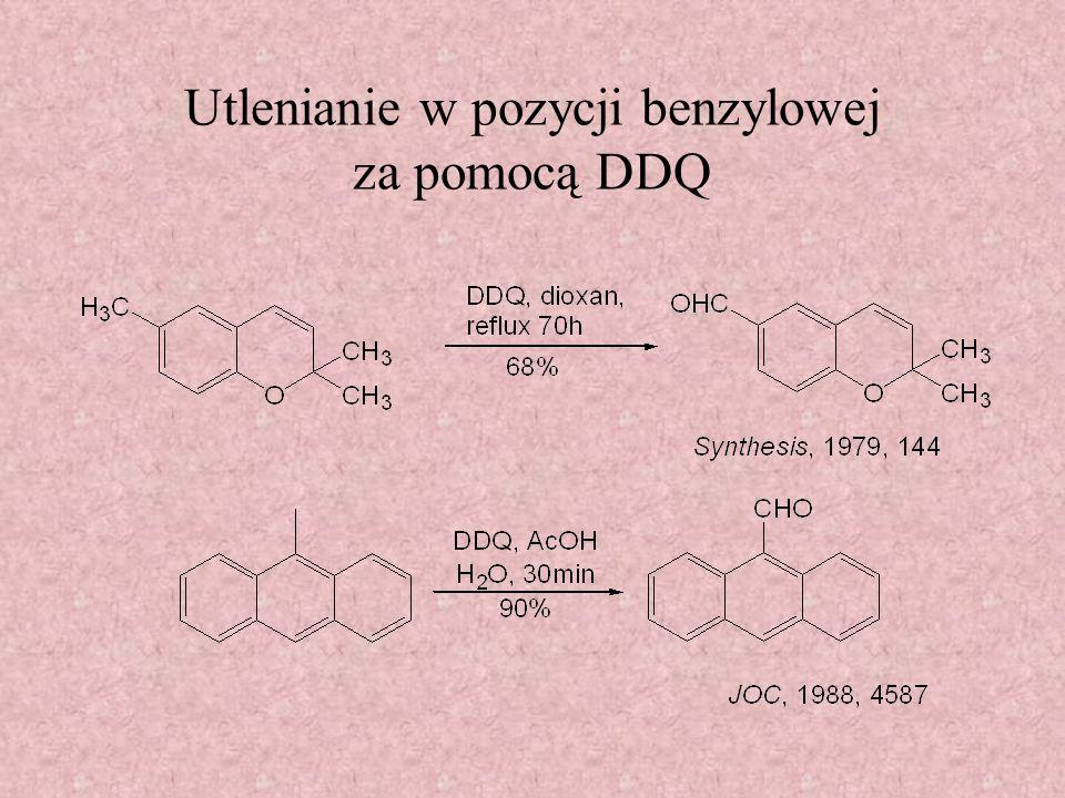 Utlenianie w pozycji benzylowej - inne reakcje