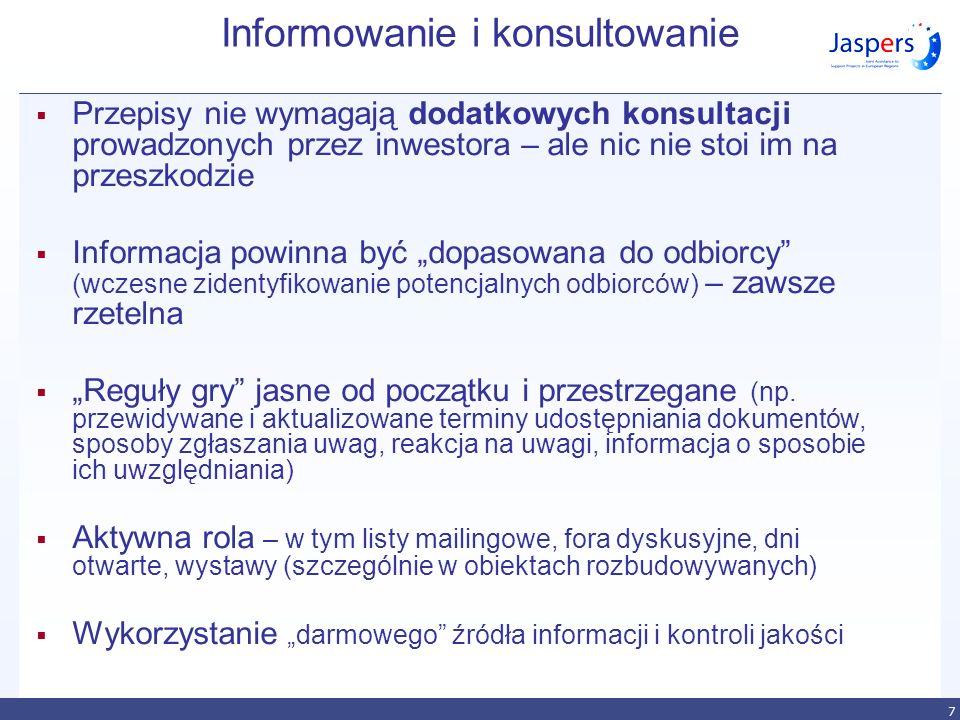 8 dobry raport Informacje: prawdziwe rzetelne na temat obiektywne zrozumiałe Źródło zdjęcia: http://www.a1-pyrzowice-sosnica.pl/zdjecia-z-lotu-ptaka CELEM jest przedstawienie informacji do podjęcia decyzji, w procesie (postępowaniu) otwartym na udział społeczeństwa STRESZCZENIE – zwięzłe, samodzielne, i zgodne z raportem