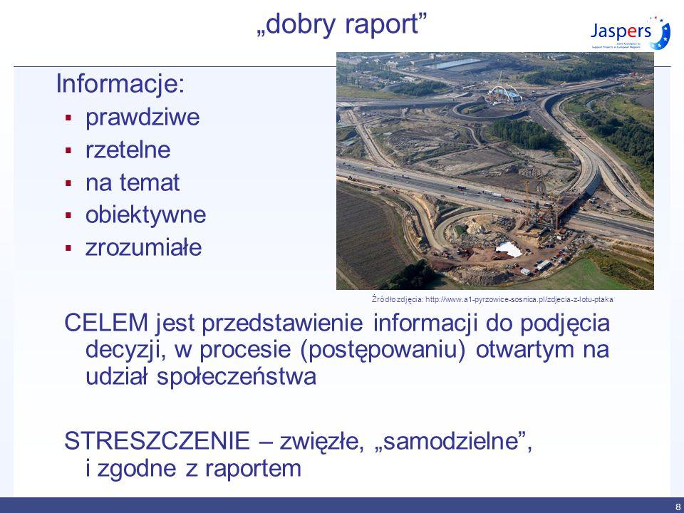8 dobry raport Informacje: prawdziwe rzetelne na temat obiektywne zrozumiałe Źródło zdjęcia: http://www.a1-pyrzowice-sosnica.pl/zdjecia-z-lotu-ptaka C