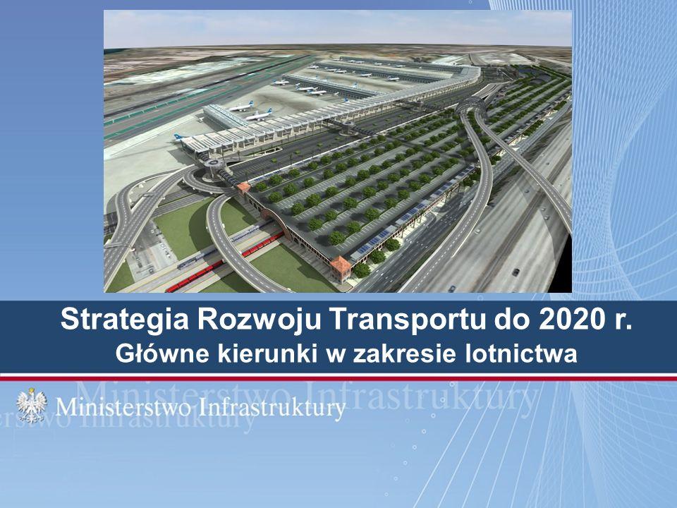 Strategia Rozwoju Transportu do 2020 r. Główne kierunki w zakresie lotnictwa