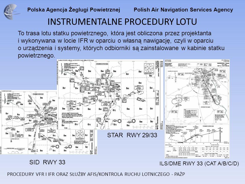 Polska Agencja Żeglugi Powietrznej Polish Air Navigation Services Agency INSTRUMENTALNE PROCEDURY LOTU To trasa lotu statku powietrznego, która jest o