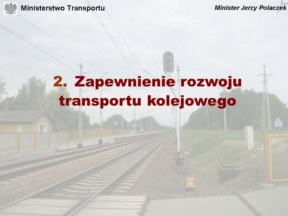 2. Zapewnienie rozwoju transportu kolejowego
