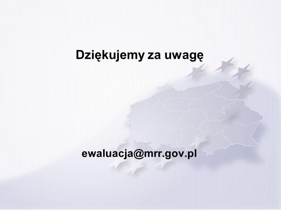 Dziękujemy za uwagę ewaluacja@mrr.gov.pl