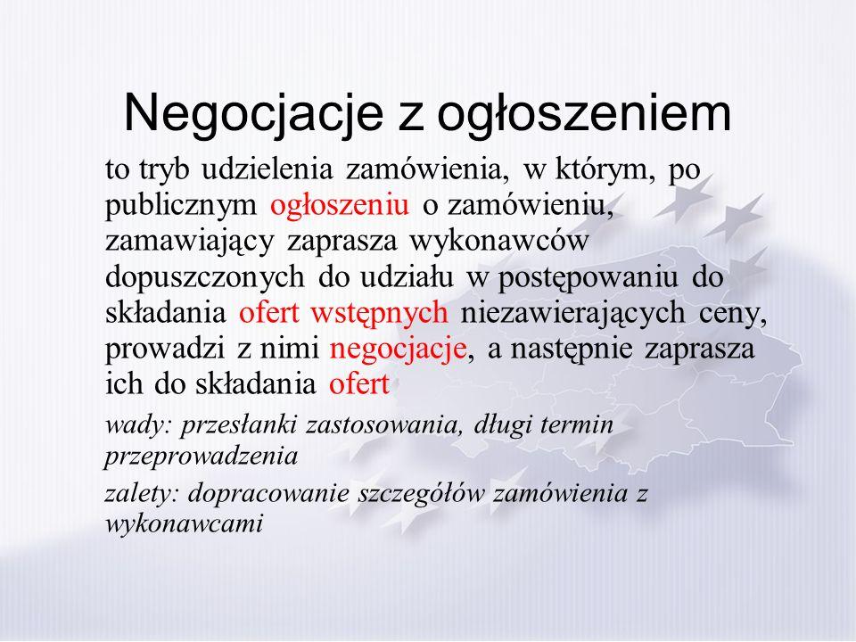 Komisja przetargowa (1) Wymóg w przypadku wartości szacunkowej powyżej 133.000 euro (art.