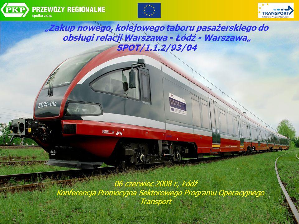 Zakup nowego, kolejowego taboru pasażerskiego do obsługi relacji Warszawa - Łódź - Warszawa SPOT/1.1.2/93/04 06 czerwiec 2008 r., Łódź Konferencja Pro
