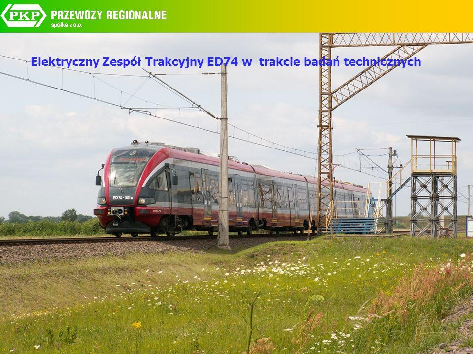 Elektryczny Zespół Trakcyjny ED74 w trakcie badań technicznych