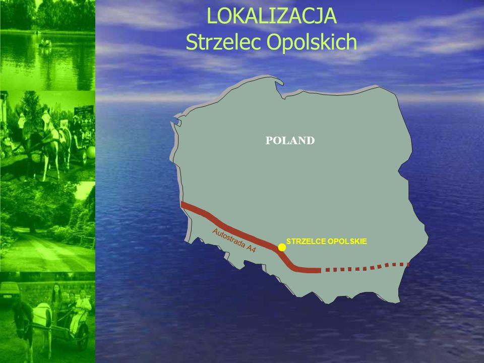 POLAND Autostrada A4 STRZELCE OPOLSKIE LOKALIZACJA Strzelec Opolskich