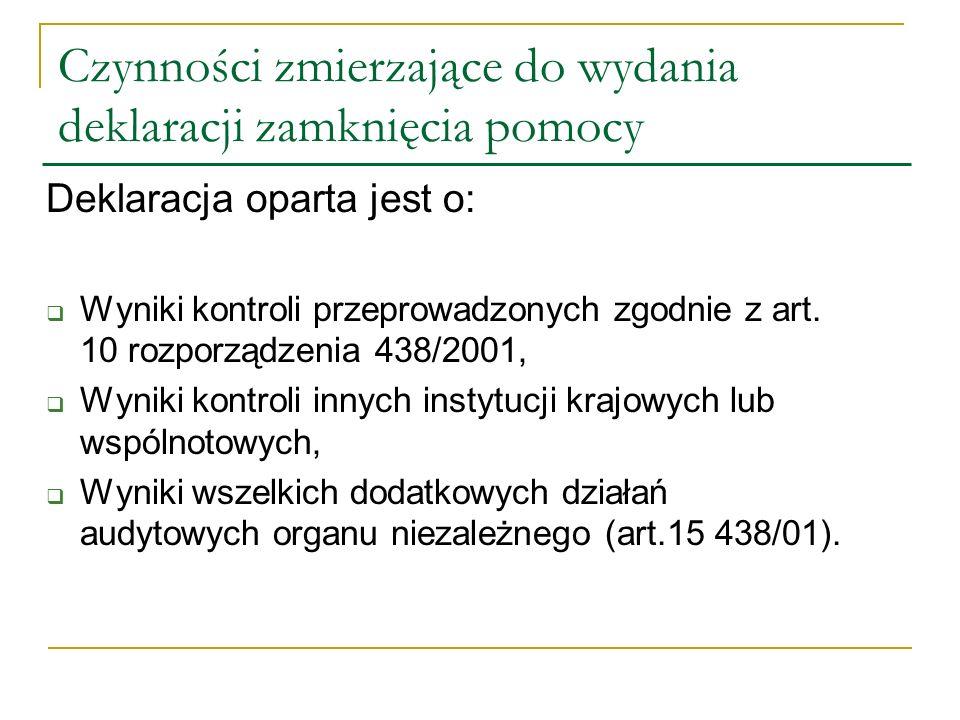 Sprawozdanie i opinia Streszczenie wyników kontroli przeprowadzonych zgodnie z art.