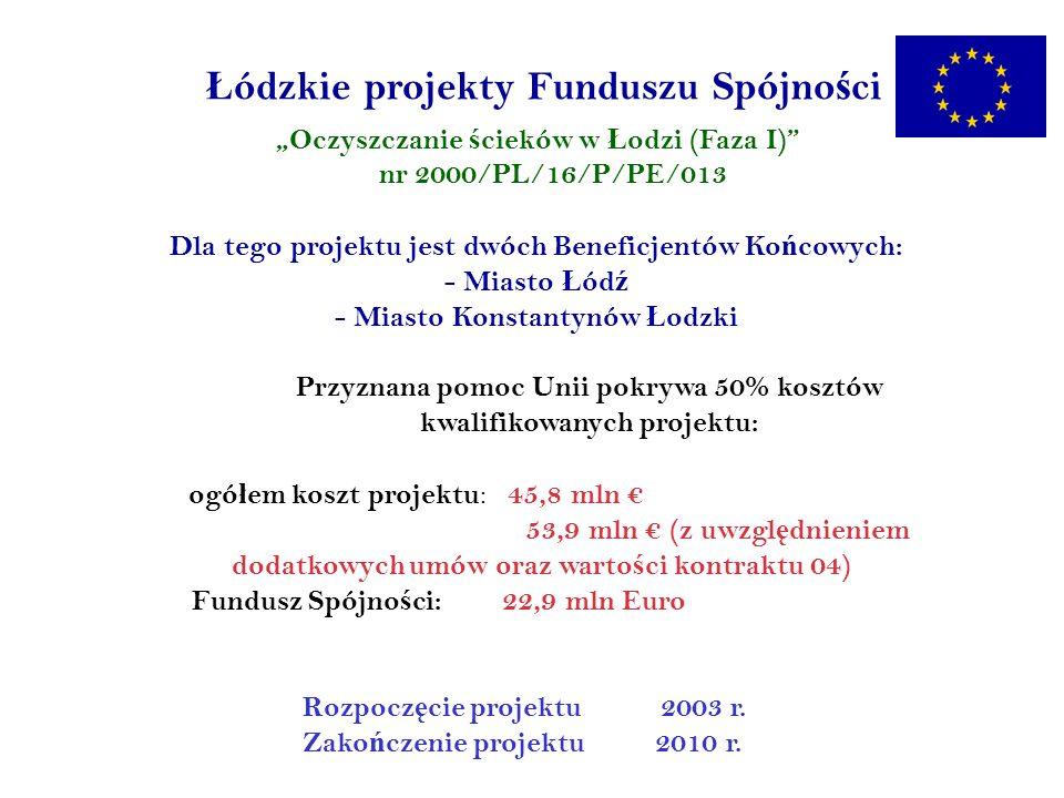 Ł ódzkie projekty Funduszu Spójno ś ci Kontrakt 03 – Kompostownia odpadów w Ł odzi Rozbudowana zosta ł a istniej ą ca kompostownia odpadów ro ś linnych.