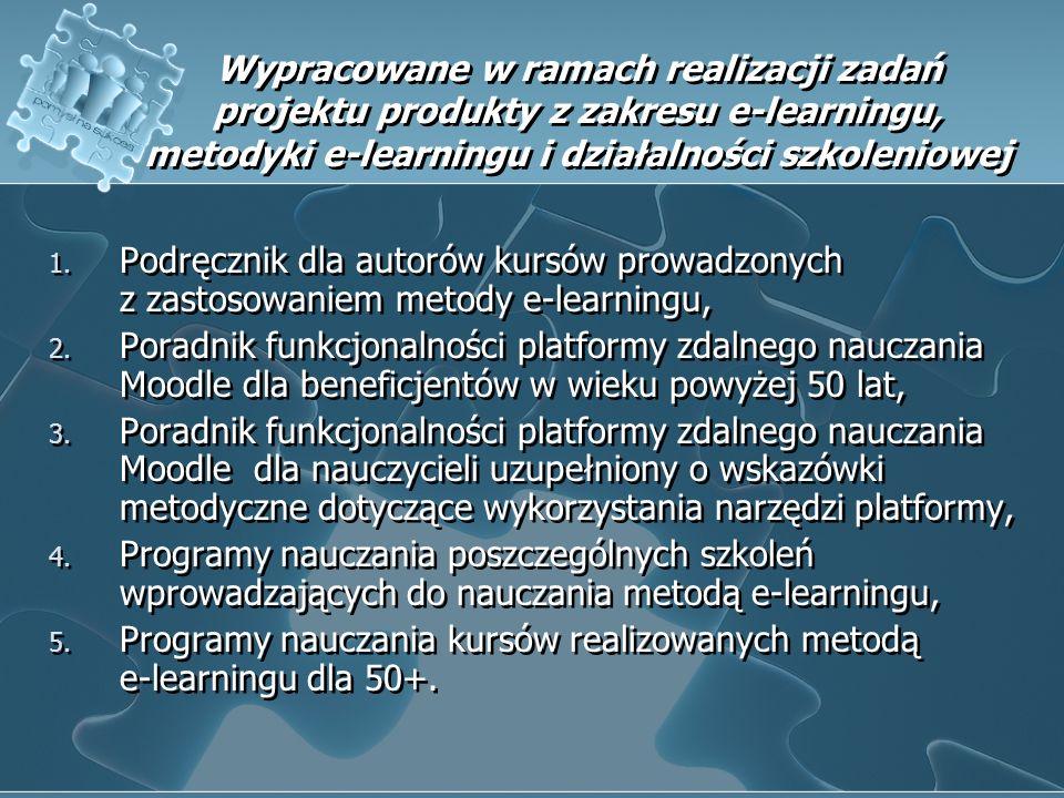 Wypracowane w ramach realizacji zadań projektu produkty z zakresu e-learningu, metodyki e-learningu i działalności szkoleniowej 1. Podręcznik dla auto