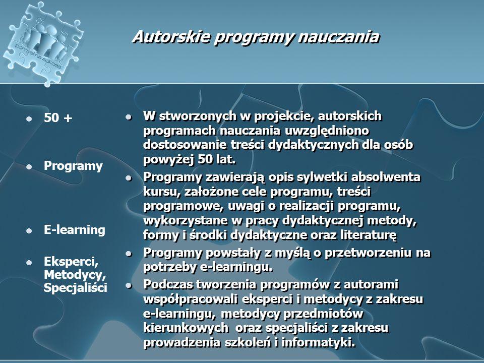 Seminaria upowszechniające i szkolenia dla trenerów blended – learning.