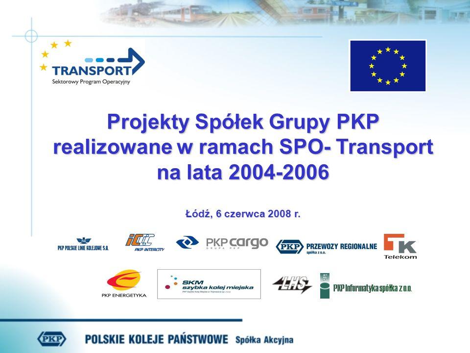 Projekty Spółek Grupy PKP realizowane w ramach SPO- Transport na lata 2004-2006 Łódź, 6 czerwca 2008 r.