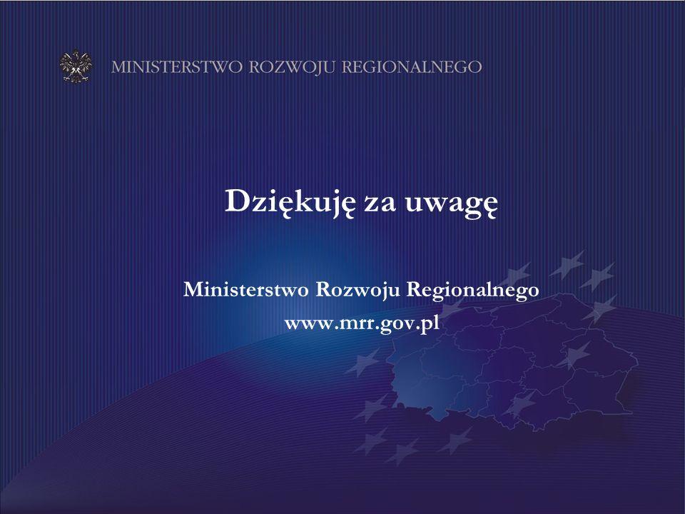 15 Dziękuję za uwagę Ministerstwo Rozwoju Regionalnego www.mrr.gov.pl