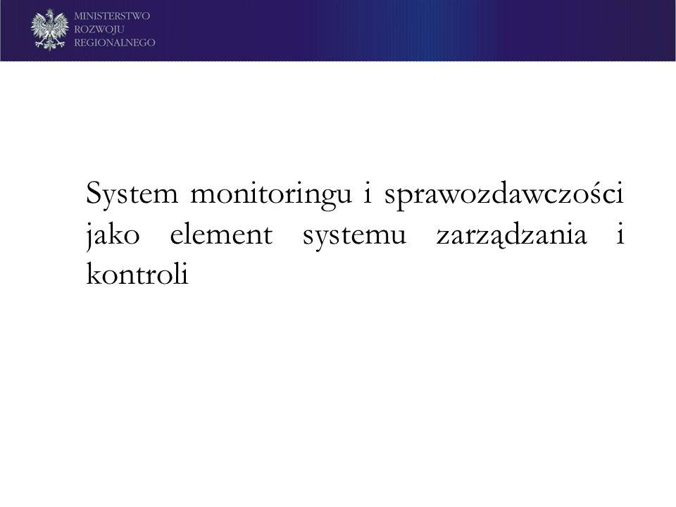 System monitoringu i sprawozdawczości jako element systemu zarządzania i kontroli
