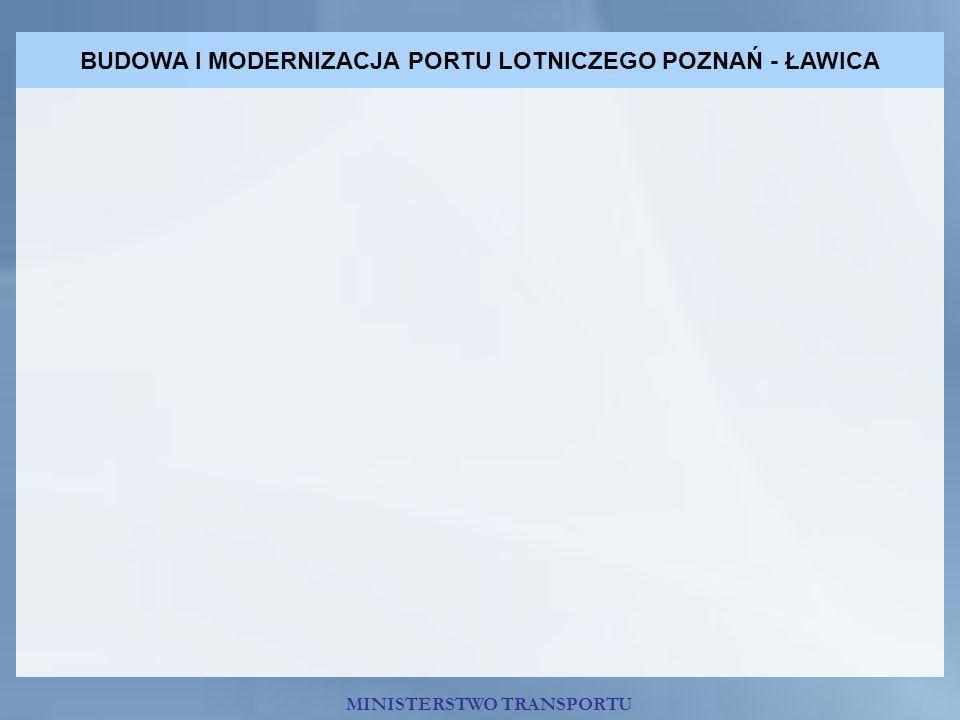 BUDOWA I MODERNIZACJA PORTU LOTNICZEGO POZNAŃ - ŁAWICA MINISTERSTWO TRANSPORTU