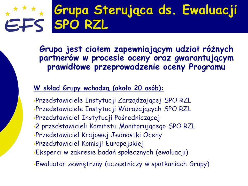 8 Zadania Grupy Sterującej ds.Ewaluacji SPO RZL 1.