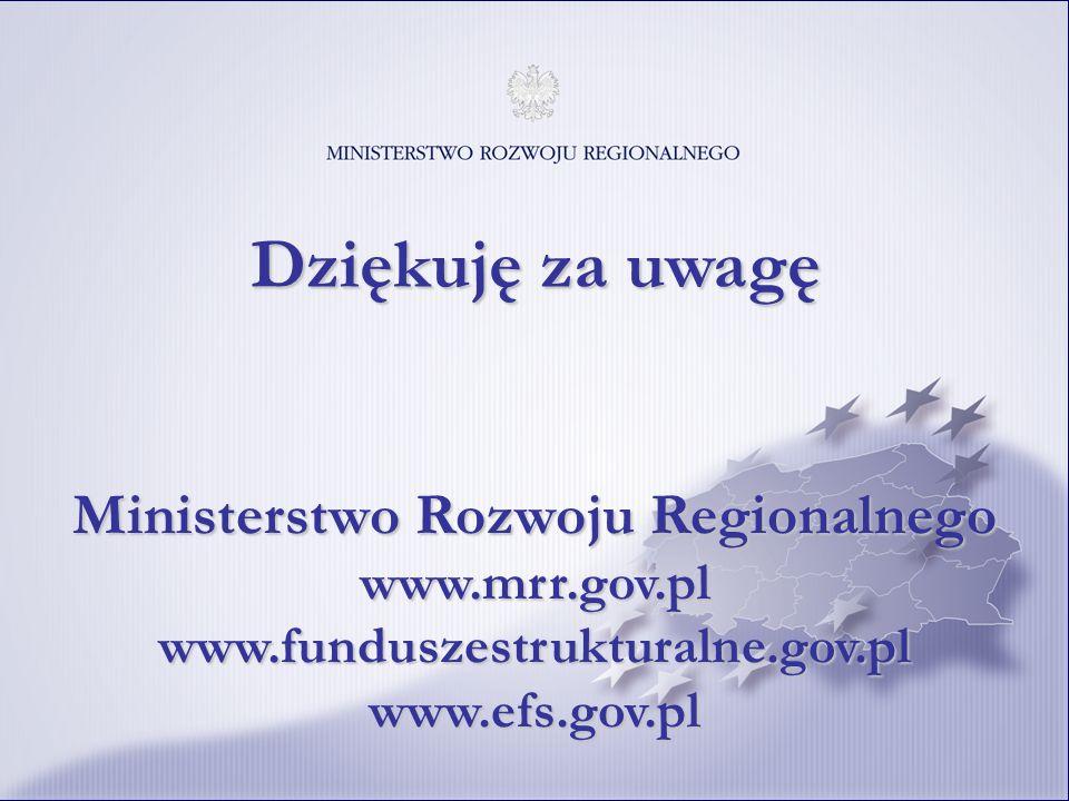 12121311 Dziękuję za uwagę Ministerstwo Rozwoju Regionalnego www.mrr.gov.pl www.funduszestrukturalne.gov.pl www.efs.gov.pl