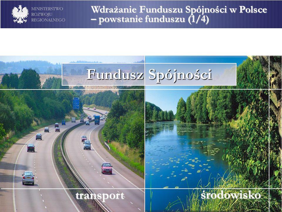 środowisko transport Fundusz Spójności Wdrażanie Funduszu Spójności w Polsce – powstanie funduszu (1/4)