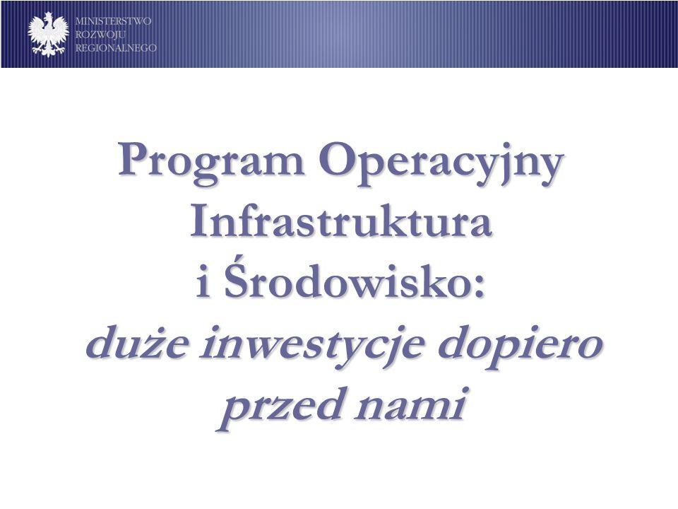Program Operacyjny Infrastruktura i Środowisko: duże inwestycje dopiero przed nami