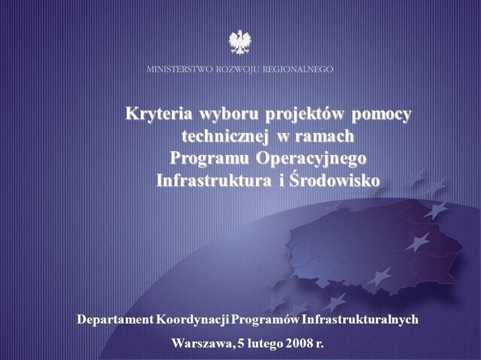 Organizacja Komitetu Monitorującego POIiŚ jest finansowana przez Europejski Fundusz Rozwoju Regionalnego oraz budżet państwa w ramach pomocy technicznej POIiŚ.