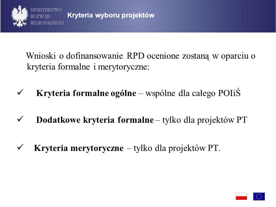 Kryteria formalne ogólne