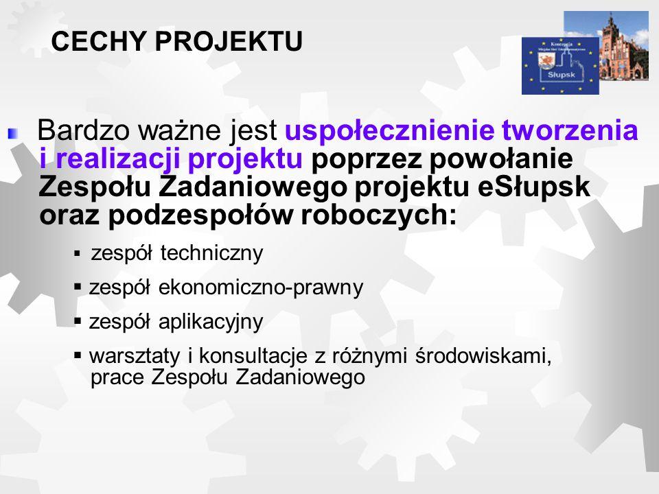 Bardzo ważne jest uspołecznienie tworzenia i realizacji projektu poprzez powołanie Zespołu Zadaniowego projektu eSłupsk oraz podzespołów roboczych: ze