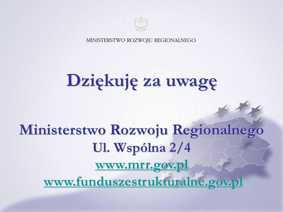 Ministerstwo Rozwoju Regionalnego Ul. Wspólna 2/4 www.mrr.gov.pl www.funduszestrukturalne.gov.pl www.mrr.gov.plwww.funduszestrukturalne.gov.pl www.mrr