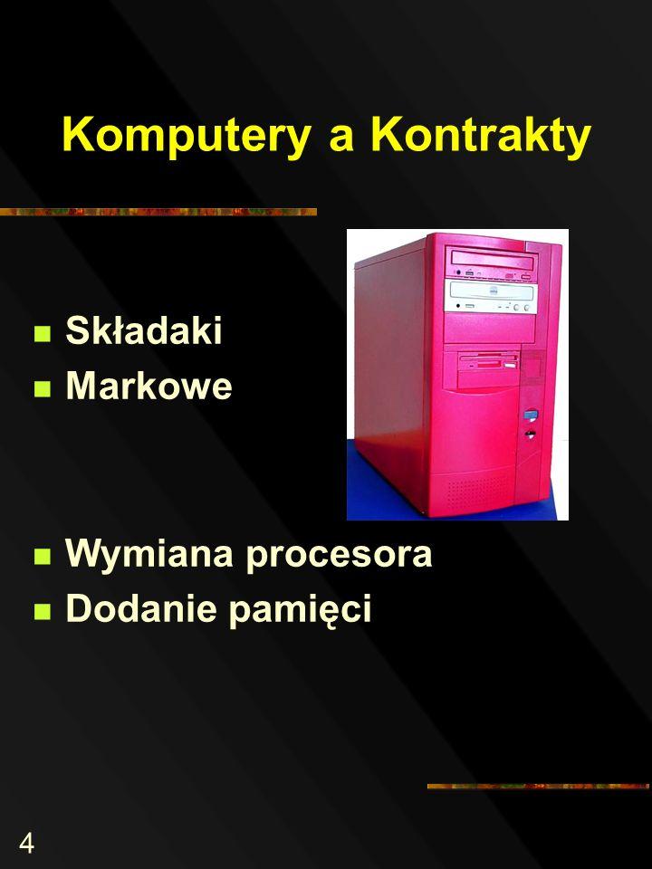 4 Komputery a Kontrakty Składaki Markowe Wymiana procesora Dodanie pamięci