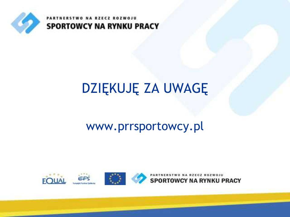 DZIĘKUJĘ ZA UWAGĘ www.prrsportowcy.pl