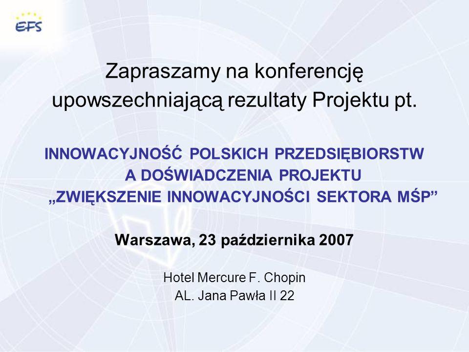 Zapraszamy na konferencję upowszechniającą rezultaty Projektu pt.