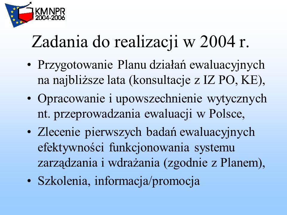 Zadania do realizacji w 2004 r.