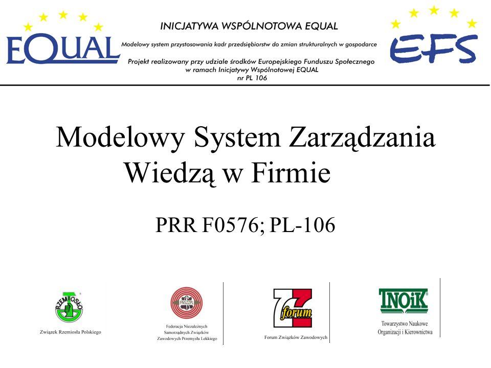 Modelowy System Zarządzania Wiedzą w Firmie PRR F0576; PL-106