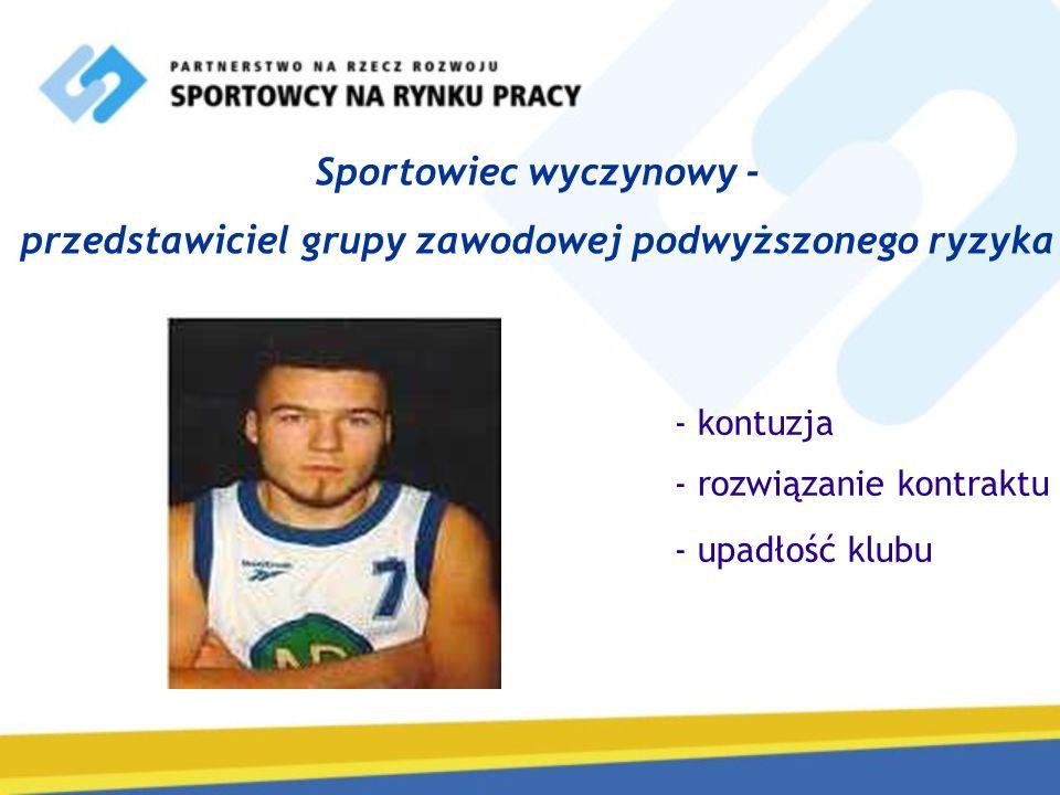 Sportowiec wyczynowy - przedstawiciel grupy zawodowej podwyższonego ryzyka - kontuzja - rozwiązanie kontraktu - upadłość klubu