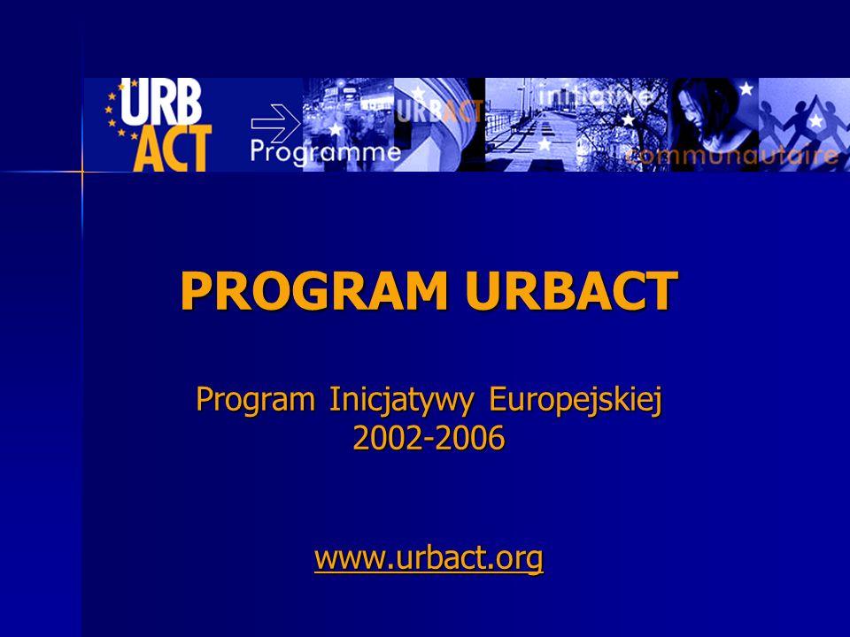 PROGRAM URBACT Program Inicjatywy Europejskiej 2002-2006 www.urbact.org www.urbact.org