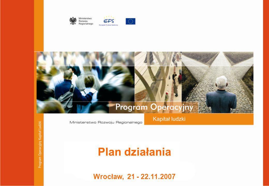 Plan działania Wrocław, 21 - 22.11.2007