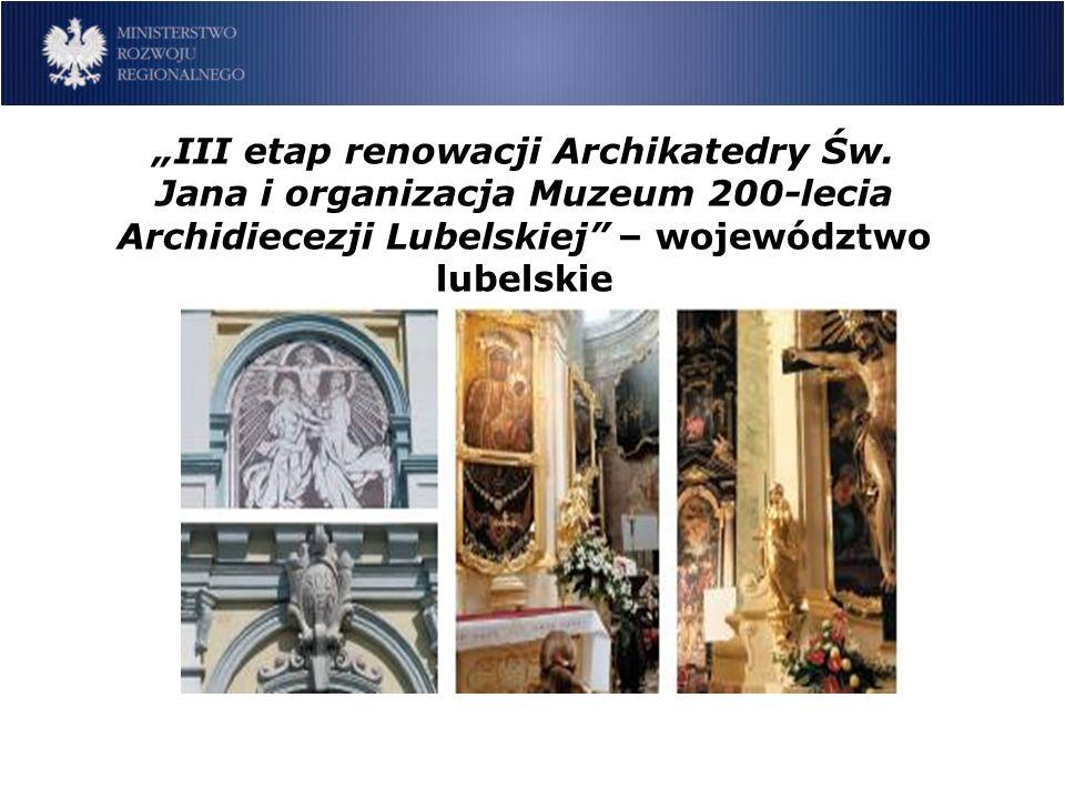 III etap renowacji Archikatedry Św.