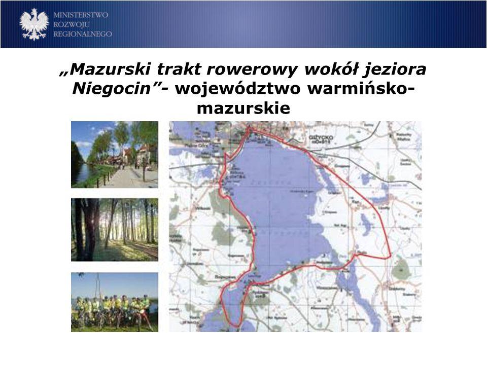 Mazurski trakt rowerowy wokół jeziora Niegocin- województwo warmińsko- mazurskie