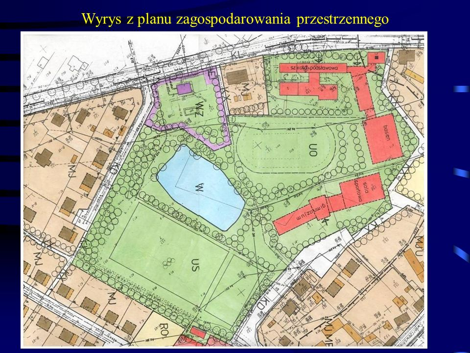 Wyrys z planu zagospodarowania przestrzennego