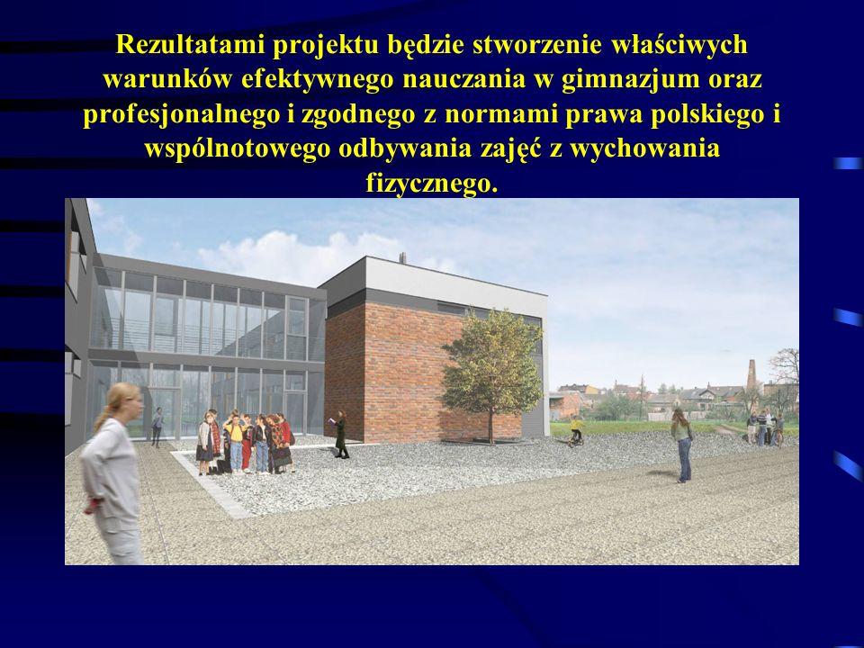 Rezultatami projektu będzie stworzenie właściwych warunków efektywnego nauczania w gimnazjum oraz profesjonalnego i zgodnego z normami prawa polskiego