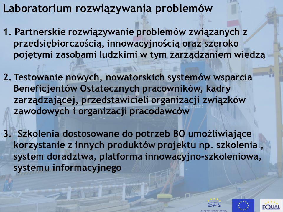 Laboratorium rozwiązywania problemów Dostosowanie kwalifikacji pracowników w wieku 50 + do zmian w restrukturyzowanych przedsiębiorstwach sektora okrętowego na przykładzie Stoczni Gdańskiej S.A.