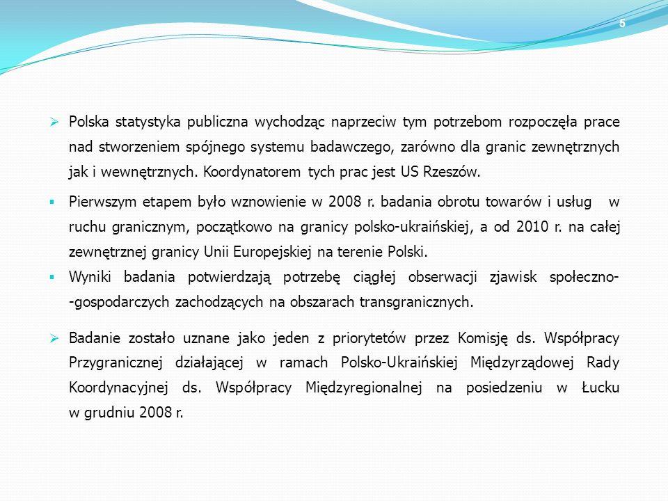 Polska statystyka publiczna wychodząc naprzeciw tym potrzebom rozpoczęła prace nad stworzeniem spójnego systemu badawczego, zarówno dla granic zewnętr