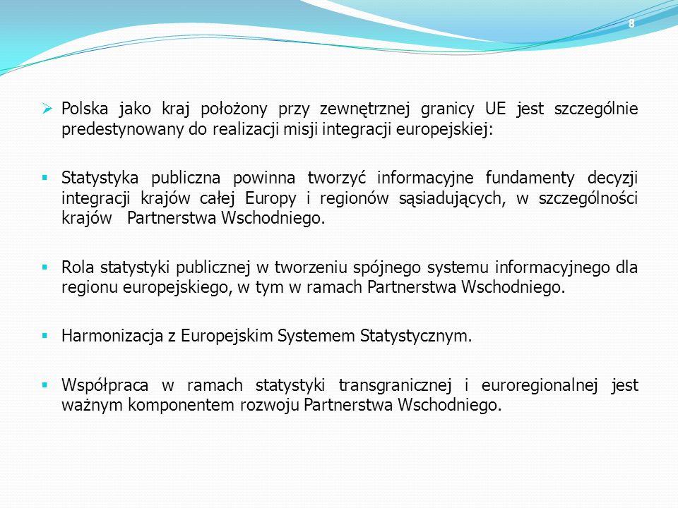 Polska jako kraj położony przy zewnętrznej granicy UE jest szczególnie predestynowany do realizacji misji integracji europejskiej: Statystyka publiczn