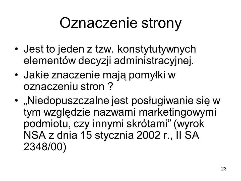 24 Oznaczenie strony Obywatel Afganistanu ubiegający się w Polsce o status uchodźcy oświadczył przed WSA, że jego dane osobowe zostały błędnie określone w wydanych wobec niego decyzjach, wskutek błędu tłumacza.