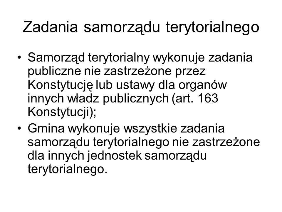 Zadania samorządu terytorialnego Województwo (art.