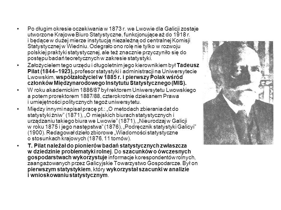 Oddział Statystyki Przemysłu i Handlu Krajowego Biura Statystycznego wydawał od 1885 r.