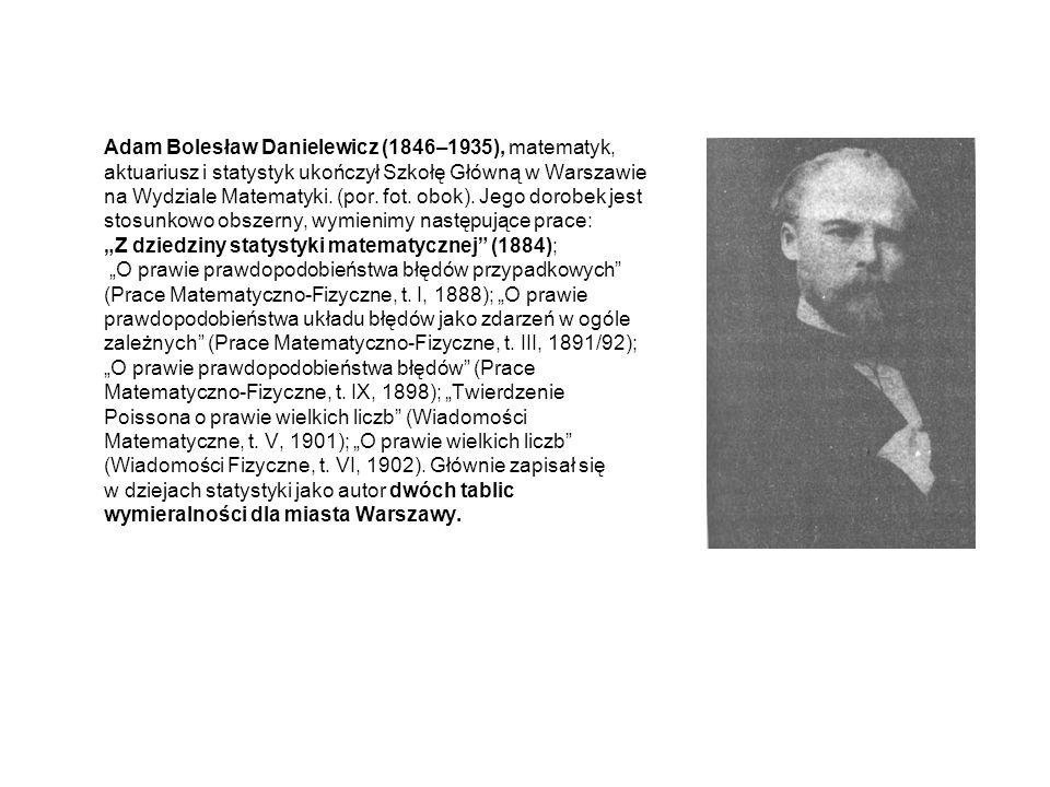 Samuel Dickstein (1851–1939), matematyk, pedagogik i historyk nauki, studiował w Szkole Głównej i Uniwersytecie Warszawskim, który ukończył w 1876 roku.