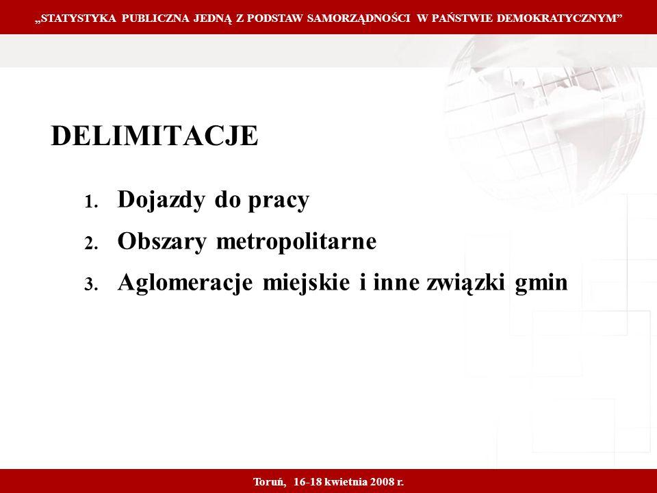 Proprietary and Confidential 15 DELIMITACJE 1. Dojazdy do pracy 2.