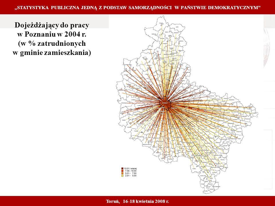 Proprietary and Confidential 16 Dojeżdżający do pracy w Poznaniu w 2004 r.